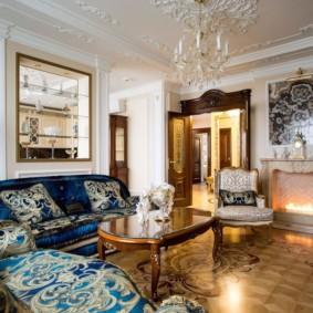 Интерьер зала в стиле барокко