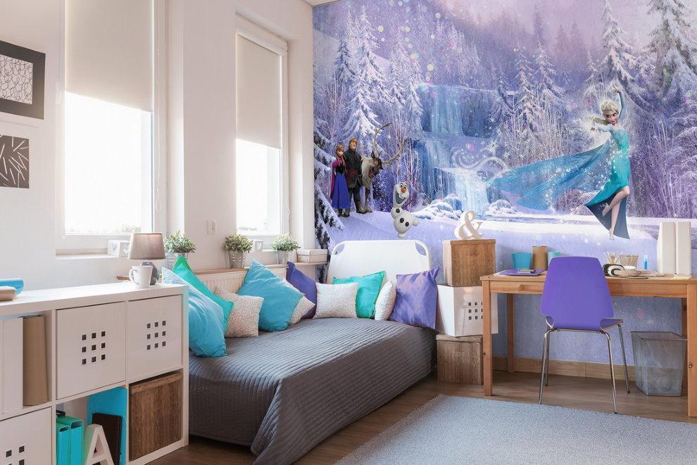 Фотообои снежная королева на стены комнаты для мальчика