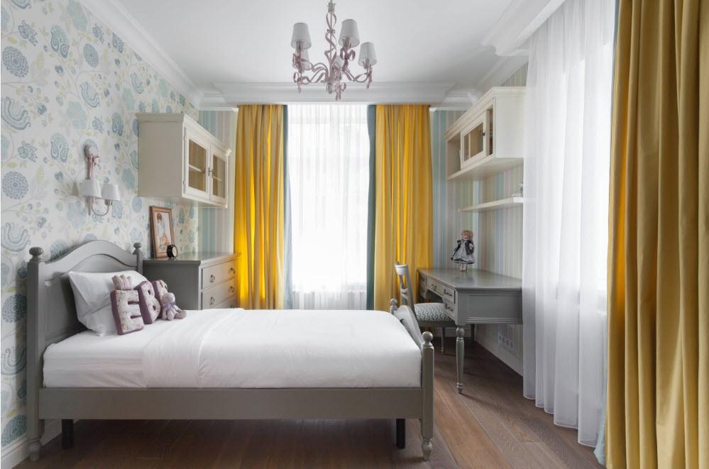 Спальная комната для девочки школьного возраста