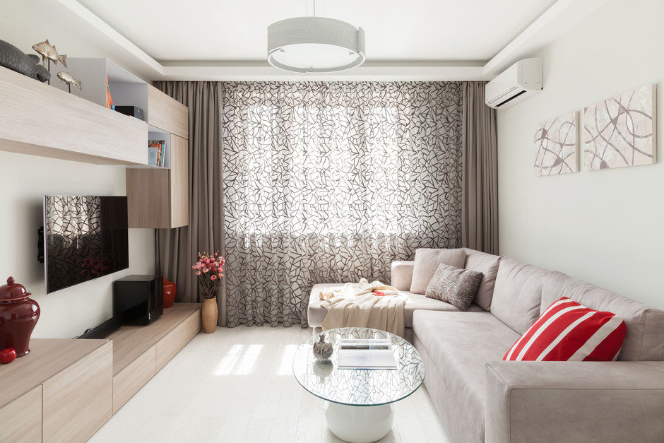 гостиная в панельном доме