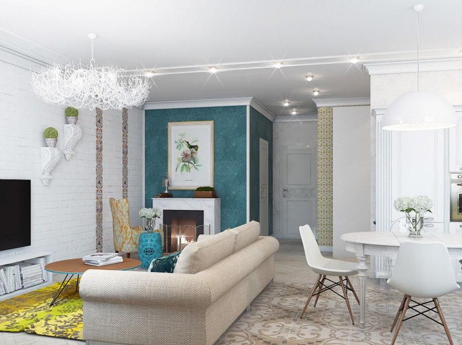 Модерн с британским уклоном в интерьере дома