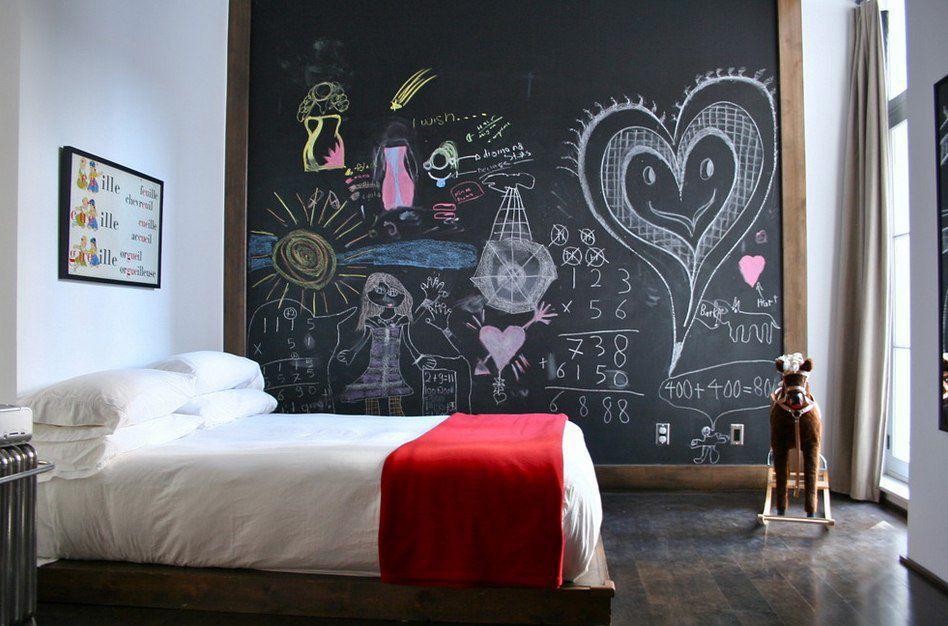 Детская комната с грифельной стеной