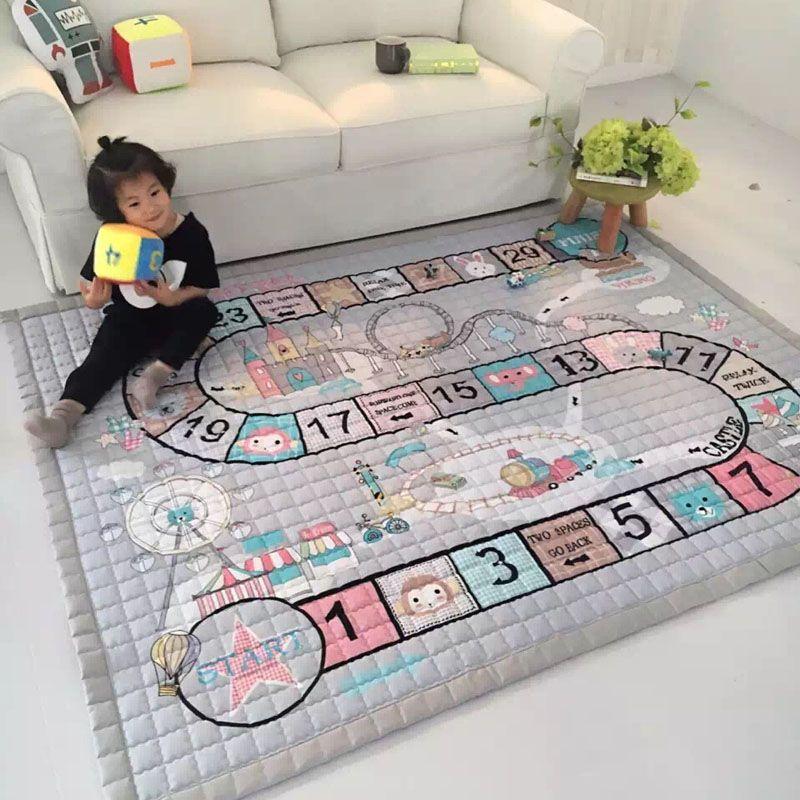 Игровой ковер из хлопковой ткани