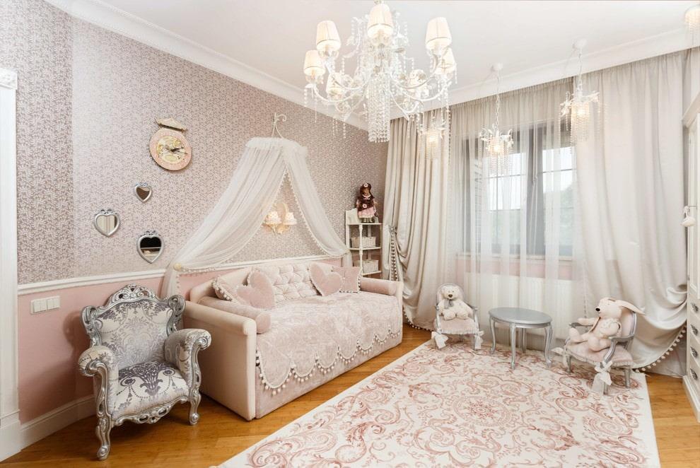 Освещение детской комнаты в стиле классики