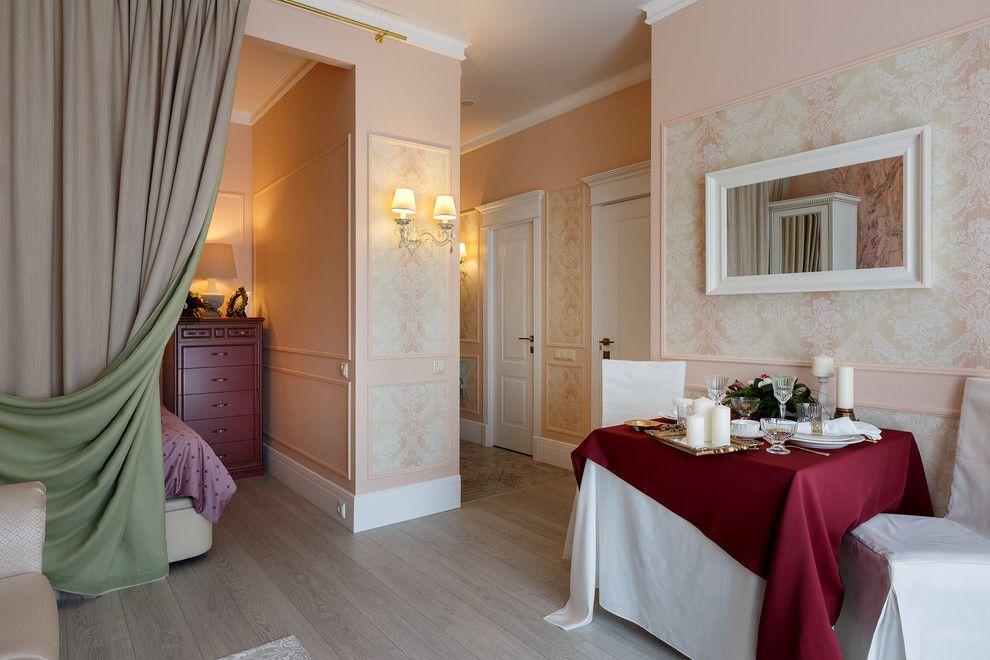Двухсторонняя штора между спальней и гостиной