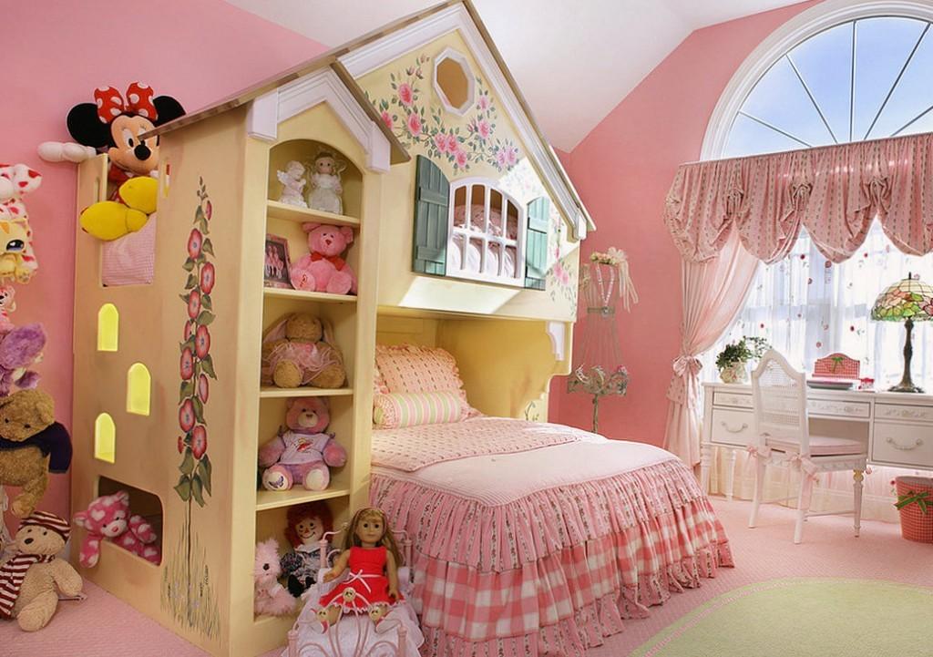 Розовая комната для маленькой принцессы
