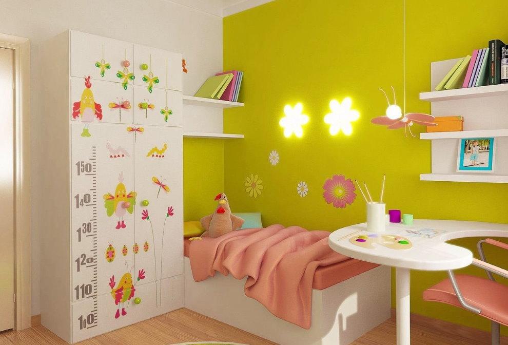 Дизайн детской спальни с крашенными стенами