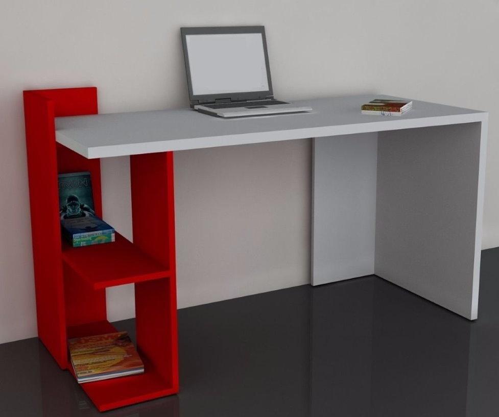 Красно-белый стол для компьютера