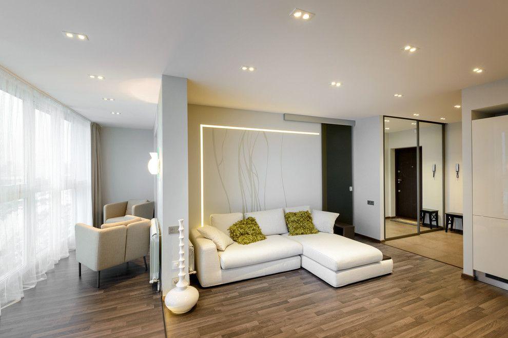 Интерьер однокомнатной квартиры после присоединения лоджии