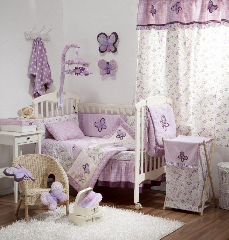 Лавандовые занавески в детской комнате