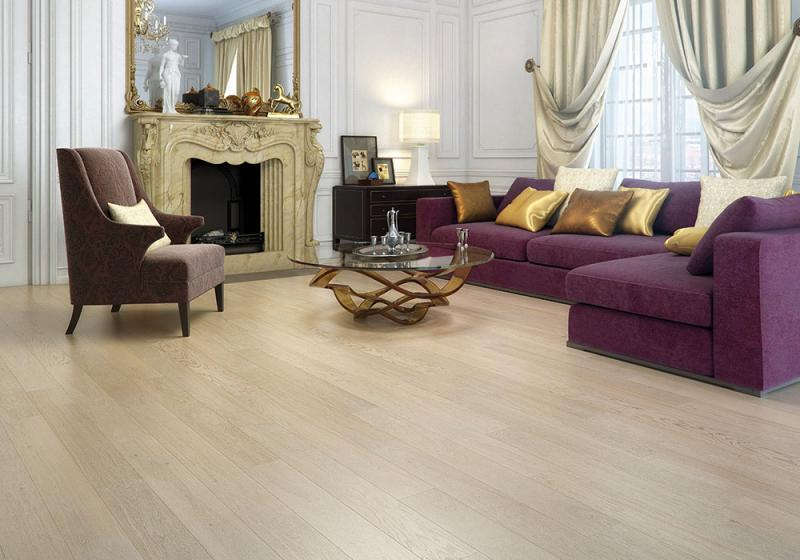 Линолеум на полу зала в стиле классики