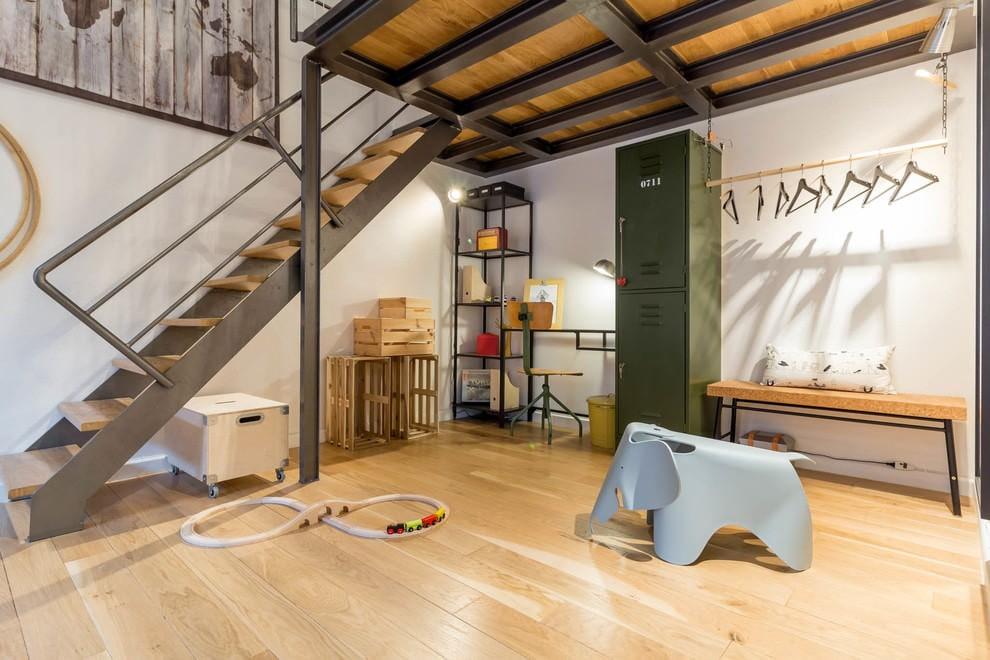 Интерьер детской комнате в стилистике лофта
