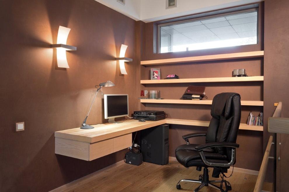 Уютный кабинет небольшой площади