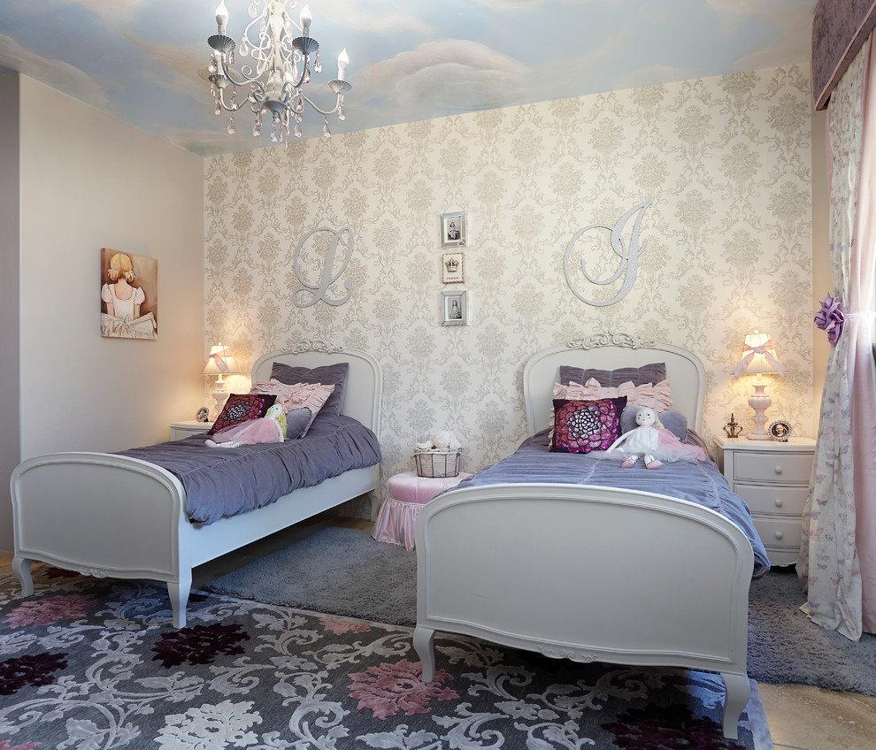 Освещение спальной зоны в комнате девочек