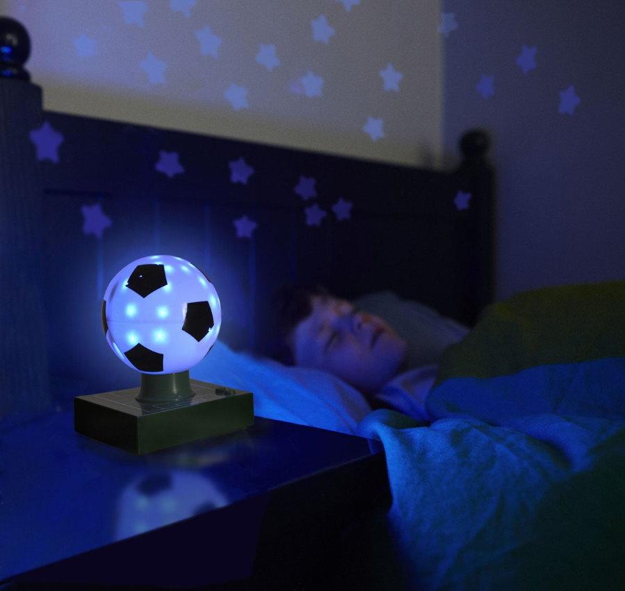 Детский ночник в форме футбольного мячика