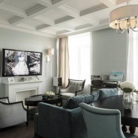 обои для современной гостиной виды интерьера