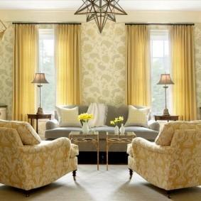 обои для современной гостиной фото дизайн