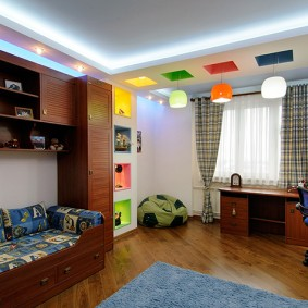 Диагональная укладка ламината в детской комнате