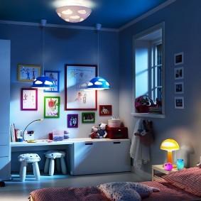 Ночное освещение в комнате мальчика