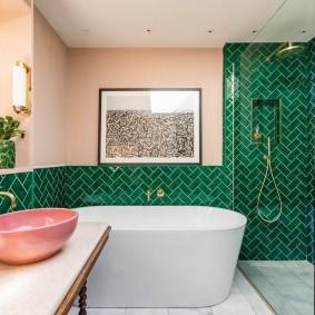 Отделка плиткой кабанчик стен в ванной