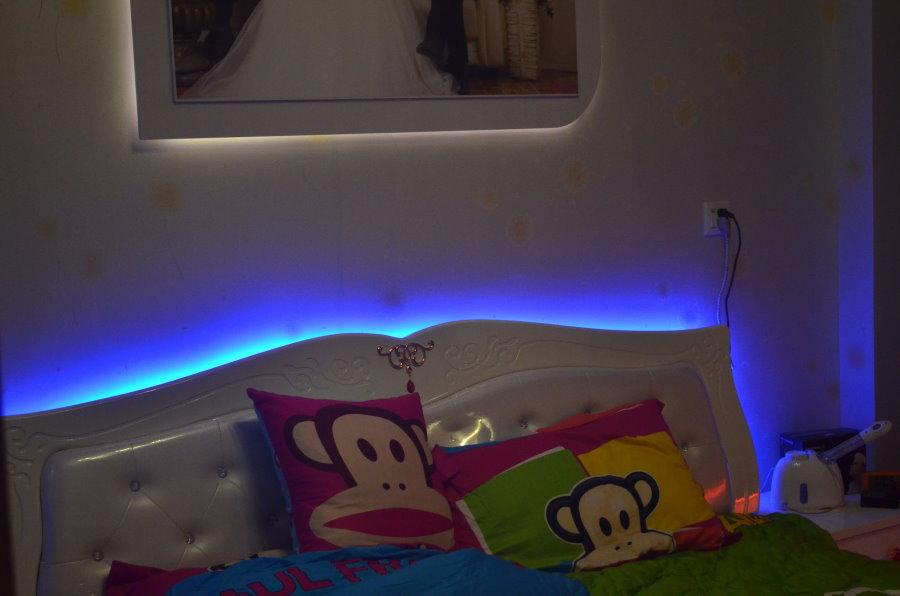 Светодиодная подсветка за изголовьем детской кровати