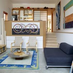 практичный дизайн маленького зала