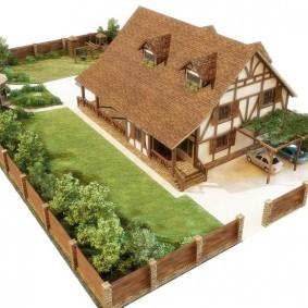 Планировка садового участка прямоугольной формы
