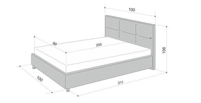 Чертеж и размеры кровати для подростка