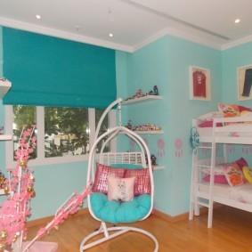 Детское кресло подвесной конструкции