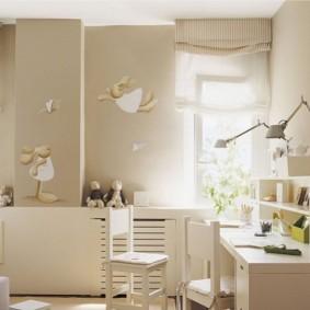 Естественное освещение детской комнаты