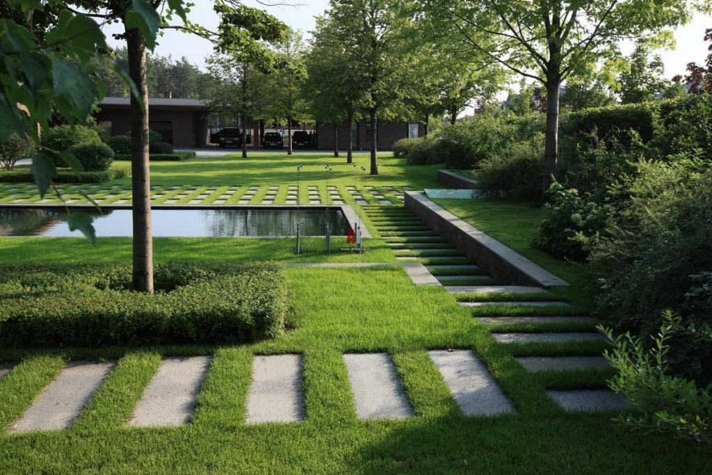 Ландшафтный дизайн сада в современном стиле