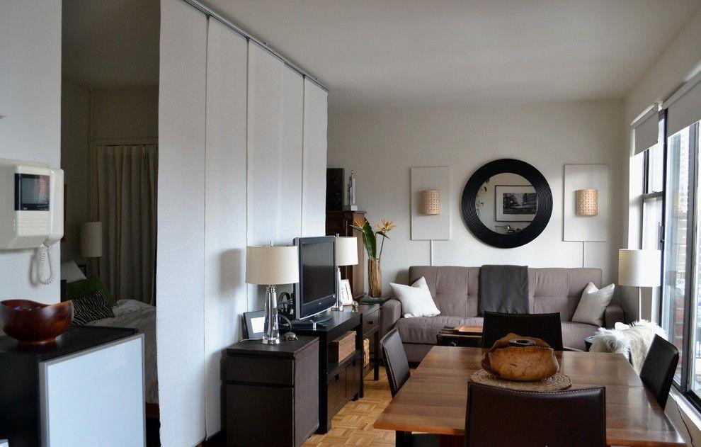 Белые японские шторы в интерьере квартиры