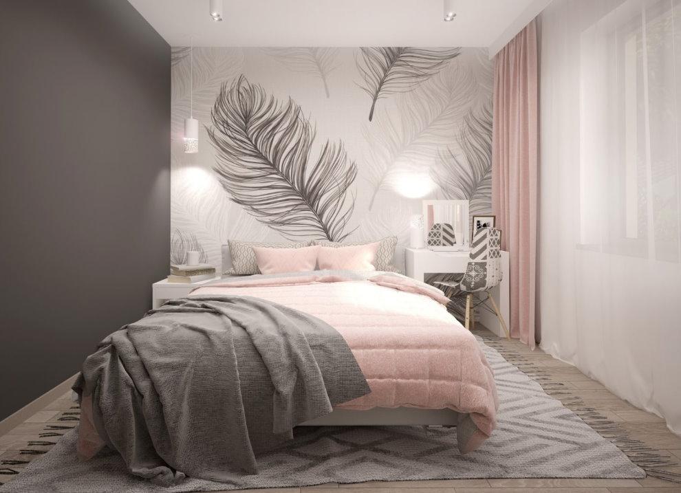 Дизайн детской спальни с розовым текстилем