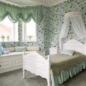 Красивый интерьер комнаты в стиле прованса