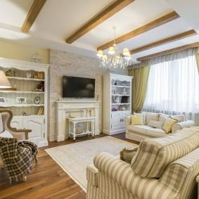 выбор стиля для гостиной прованс