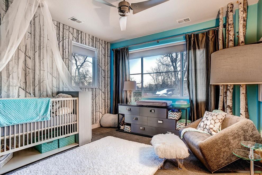 Модерн в интерьере современной детской комнаты