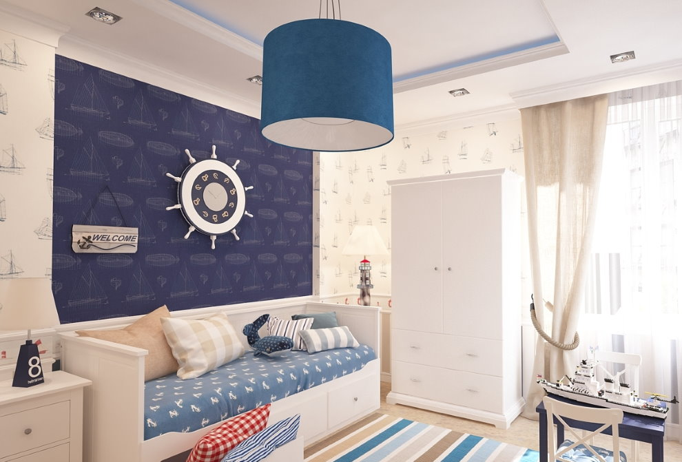 Синий плафон потолочного светильника