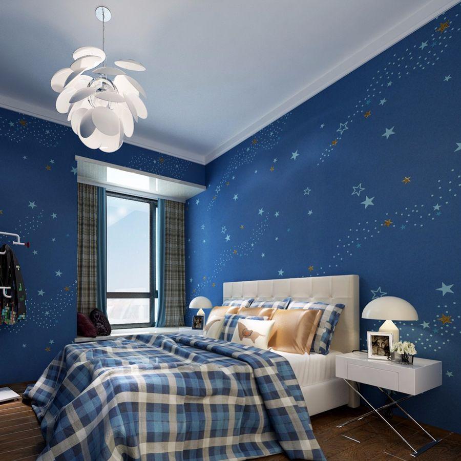 Дизайн комнаты для мальчика в синем цвете