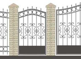 Схема кованного ограждения для садового участка