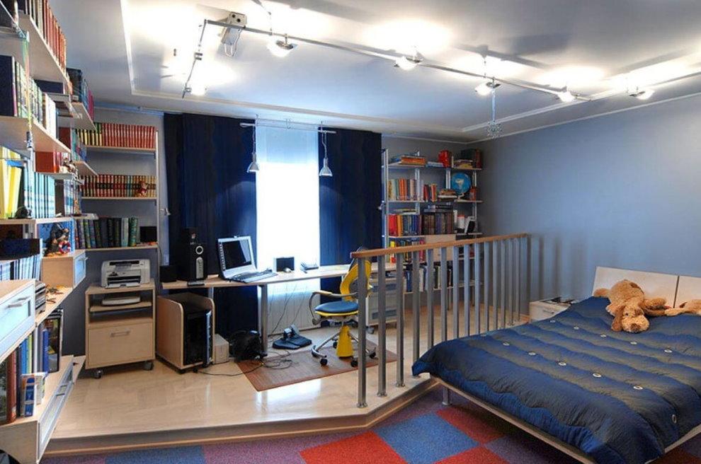 Реализация освещения в комнате мальчика-подростка