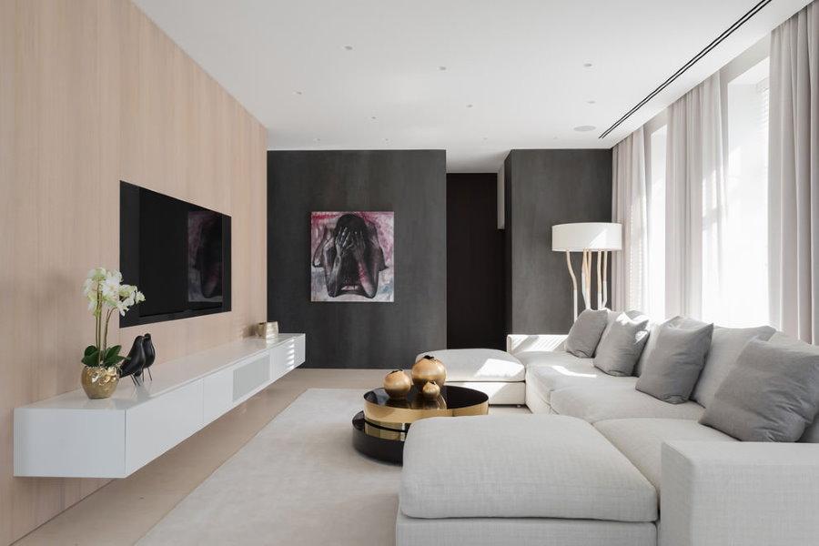 Мебель в гостиной современного стиля