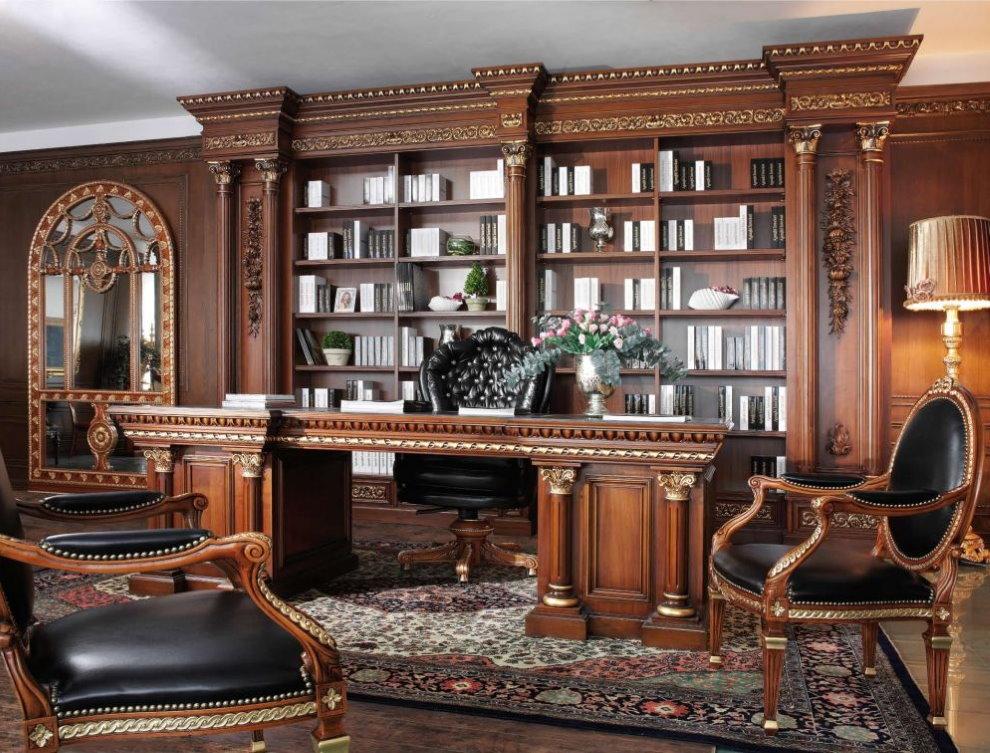 Интерьер домашнего кабинета в итальянском стиле
