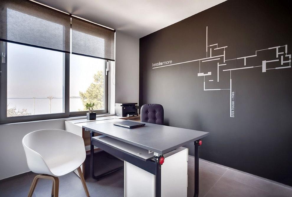 Письменный стол комбинированной конструкции