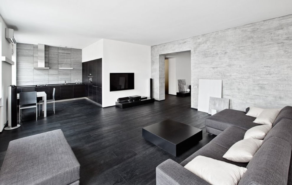 Интерьер квартиры-студии в стиле минимализма