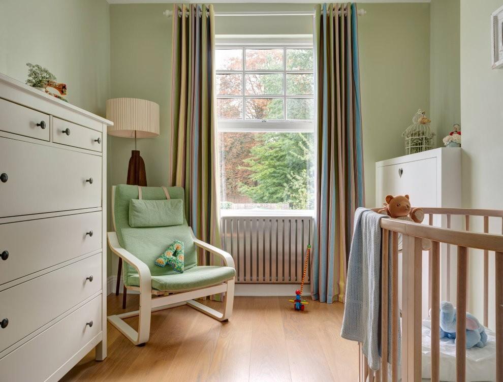 Комбинированные шторы в детской спальне