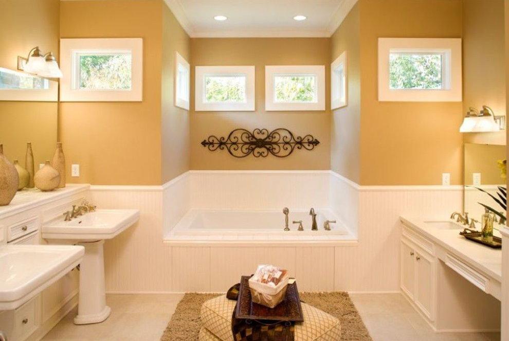 Дизайн ванной комнаты в доме из пенобетона