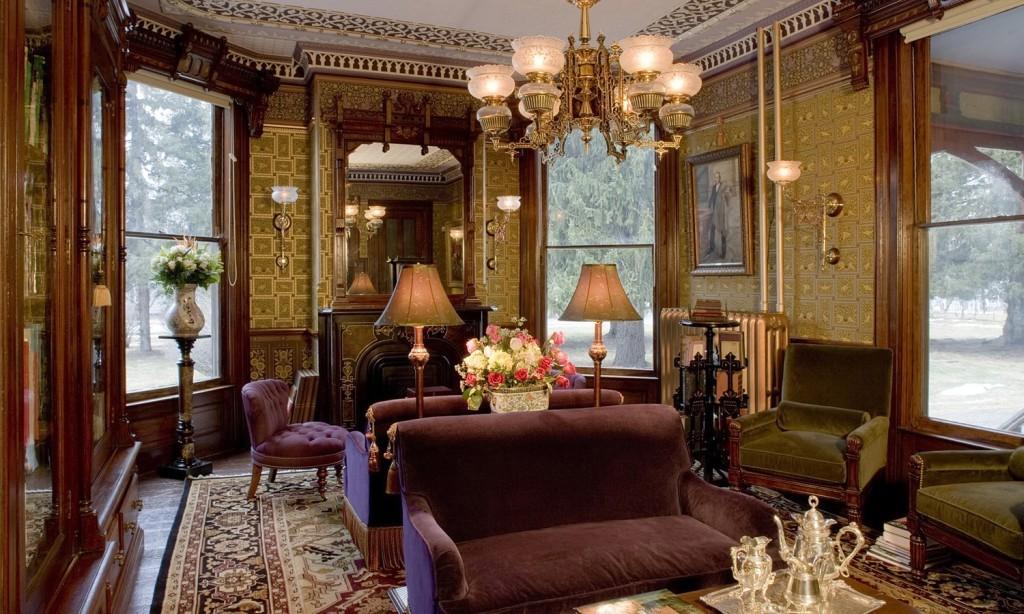 викторианский стиль гостиной