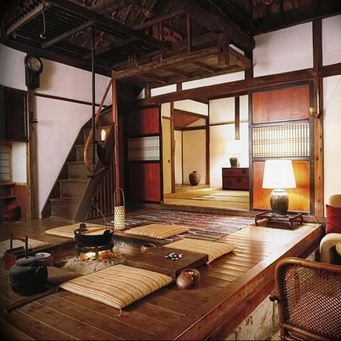 Небольшая гостиная в японском доме