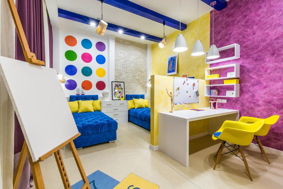 Освещение комнаты мальчиков школьного возраста