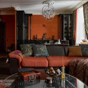 Интерьер комнаты в индийском стиле